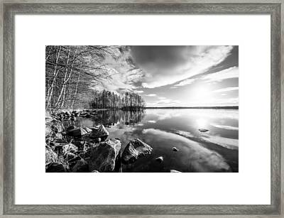 Black And White Landscape Framed Print by Teemu Tretjakov