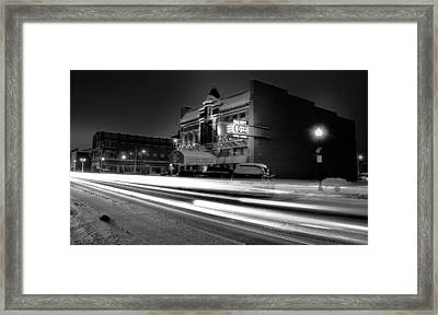 Black And White Light Painting Old City Prime Framed Print by Dan Sproul