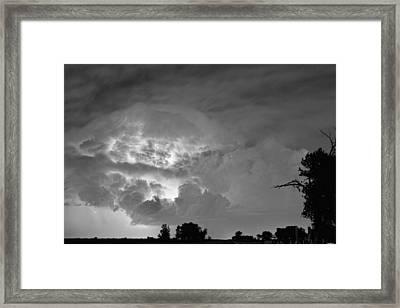 Black And White Light Show Framed Print