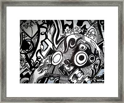 Black And White Line Drawing Framed Print by Isis Kenney