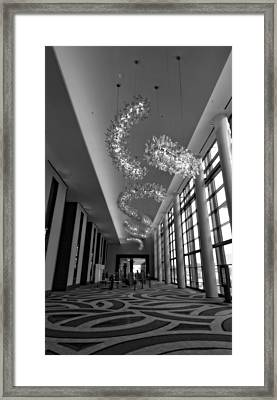Black And White Lobby Framed Print by Dan Sproul