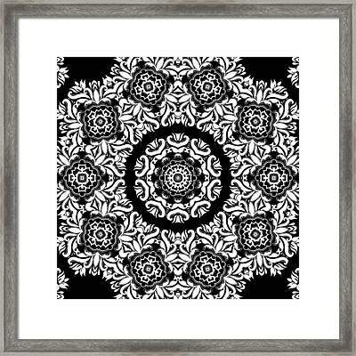 Black And White Medallion 10 Framed Print