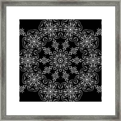 Black And White Medallion 11 Framed Print