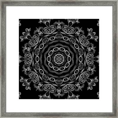 Black And White Medallion 2 Framed Print