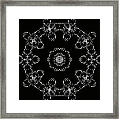 Black And White Medallion 3 Framed Print