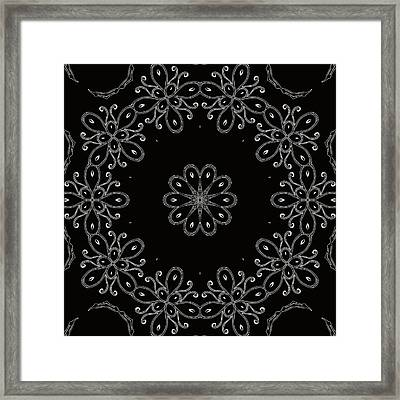 Black And White Medallion 4 Framed Print