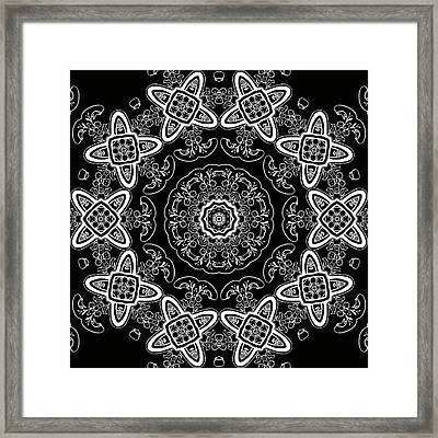 Black And White Medallion 5 Framed Print