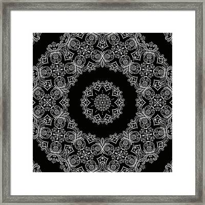 Black And White Medallion 6 Framed Print