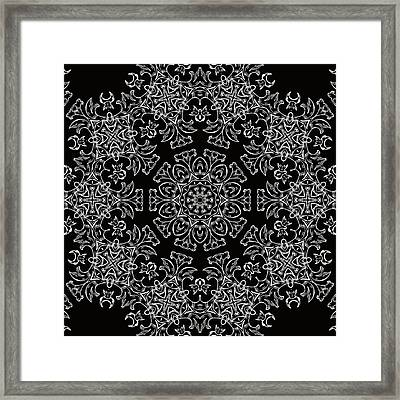 Black And White Medallion 7 Framed Print
