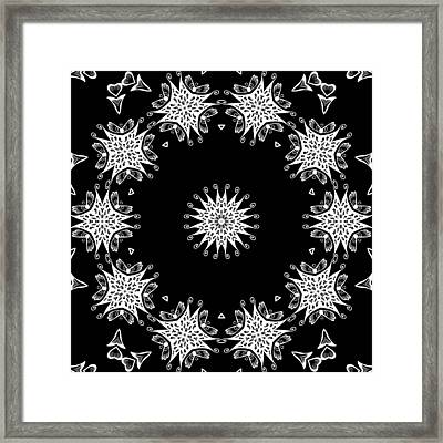 Black And White Medallion 9 Framed Print