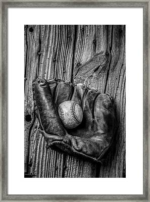 Black And White Mitt Framed Print