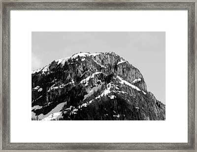 Black And White Mountain Range 4 Framed Print by Diane Rada