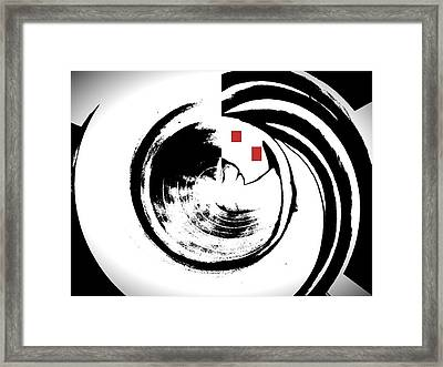 Black And White Movement Framed Print
