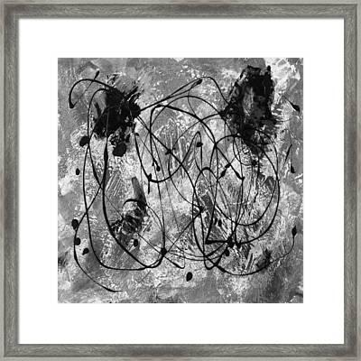 Black And White Framed Print by Nancy Merkle
