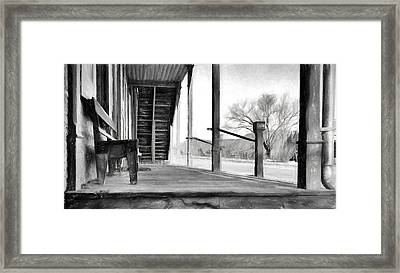 Black And White Or Shades Of Gray? Framed Print