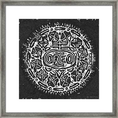 Black And White Oreo Framed Print by Rob Hans