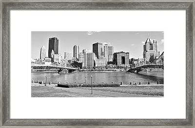 Black And White Over The Allegheny Framed Print by Frozen in Time Fine Art Photography