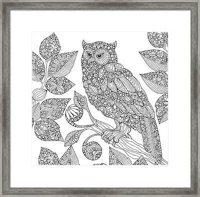 Black And White Owl Framed Print by Valentina Harper