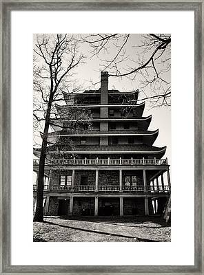 Black And White Pagoda - Reading Pa Framed Print by Bill Cannon