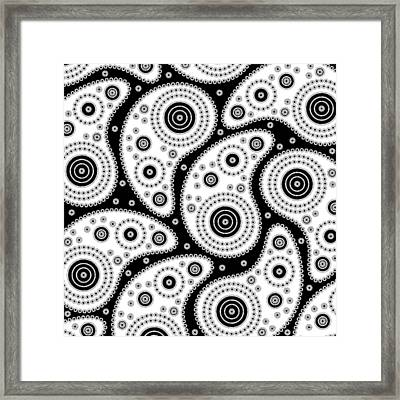 Black And White Paisley Framed Print by Frank Tschakert