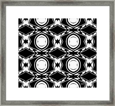 Black And White Pattern Art No.34 Framed Print by Drinka Mercep