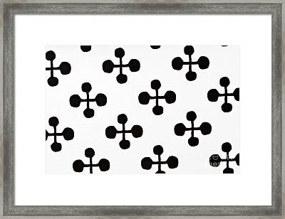 Black And White Pattern Fabric Framed Print by IB Photo
