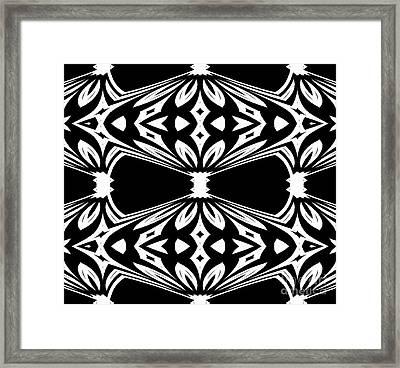 Black And White Pattern No.265 Framed Print by Drinka Mercep