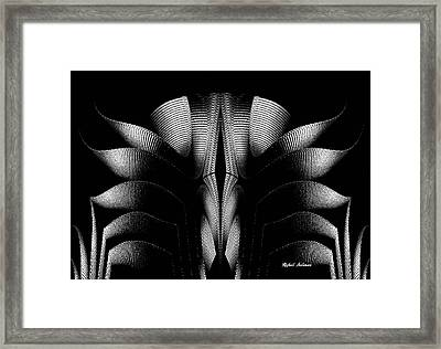 Framed Print featuring the mixed media Black And White by Rafael Salazar