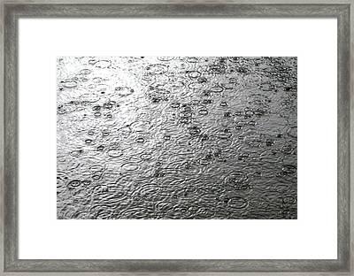 Black And White Rain Framed Print