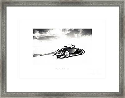 Black And White Salt Metal Framed Print by Holly Martin