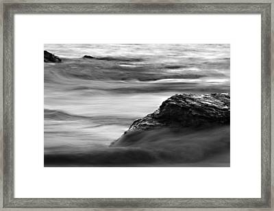 Black And White Seascape Framed Print