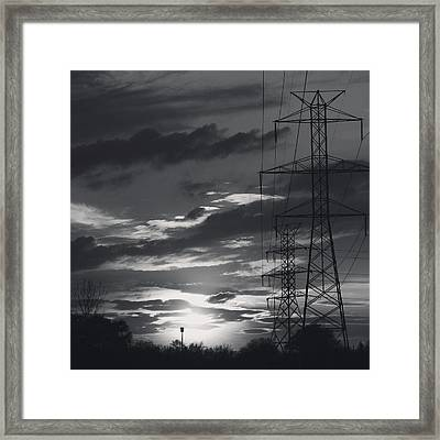Black And White Skies Framed Print