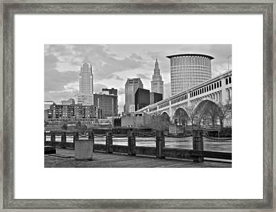 Black And White Skyline Framed Print