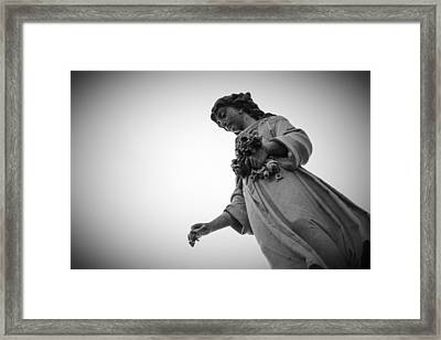 Black And White Statue Framed Print