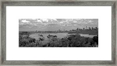 Framed Print featuring the photograph Black And White Sydney by Miroslava Jurcik