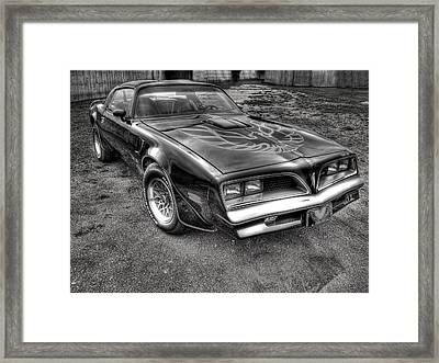 Black And White Trans Am Framed Print by Thomas Young