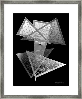 Black And White Triangles Framed Print by Mario Perez
