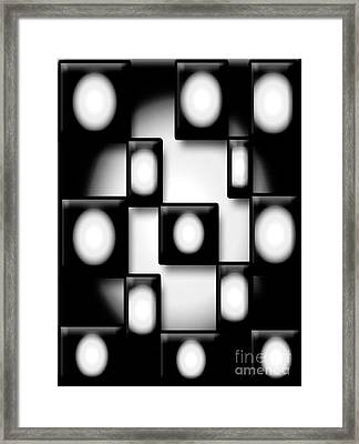 Black And White Unite  Framed Print by Gayle Price Thomas