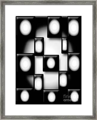 Black And White Unite  Framed Print