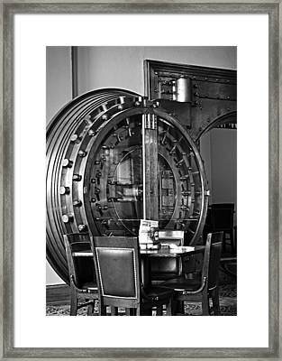 Black And White Vault Framed Print by Image Takers Photography LLC - Laura Morgan