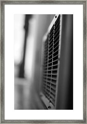 Black And White Vent Framed Print by Dan Sproul