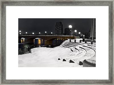 Black And White With A Splash Of River Framed Print by Evie Carrier