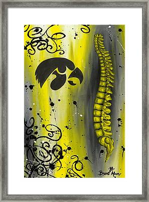 Black And Yellow Framed Print by Brent Buss