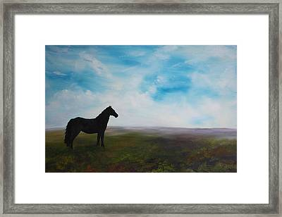 Black As Night In The Light Of Day Framed Print
