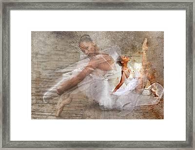 Black Ballerina Framed Print