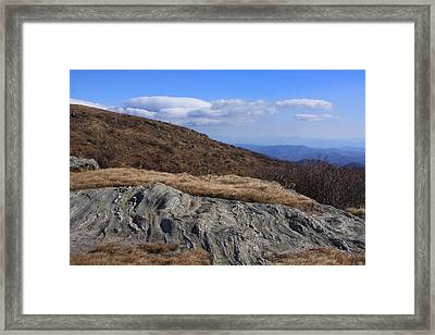 Framed Print featuring the photograph Black Balsam Knob-north Carolina by Mountains to the Sea Photo