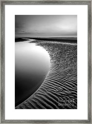 Black Beach Framed Print