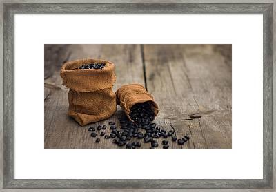 Black Beans Framed Print by Aged Pixel