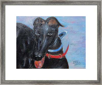Black Beauty Framed Print by Lucille  Valentino