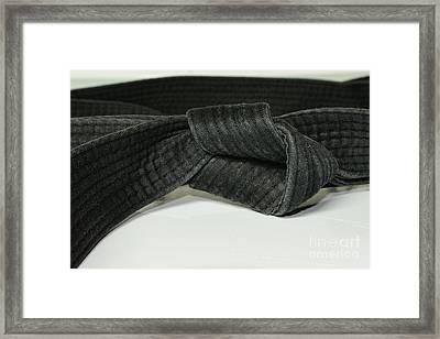 Black Belt Framed Print by Paul Ward